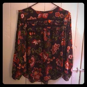 LOFT floral blouse - small petite - gently worn